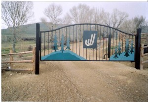 Custom gate for ranch in Durango, CO