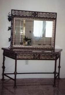 Foyer table with mirror
