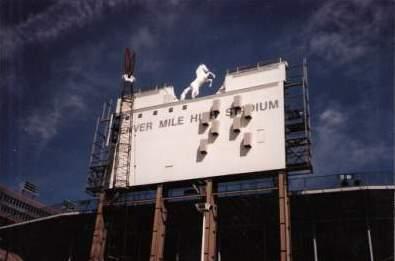 Diamond Vision supports at Mile High Stadium