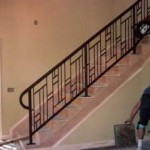 installed stair railing