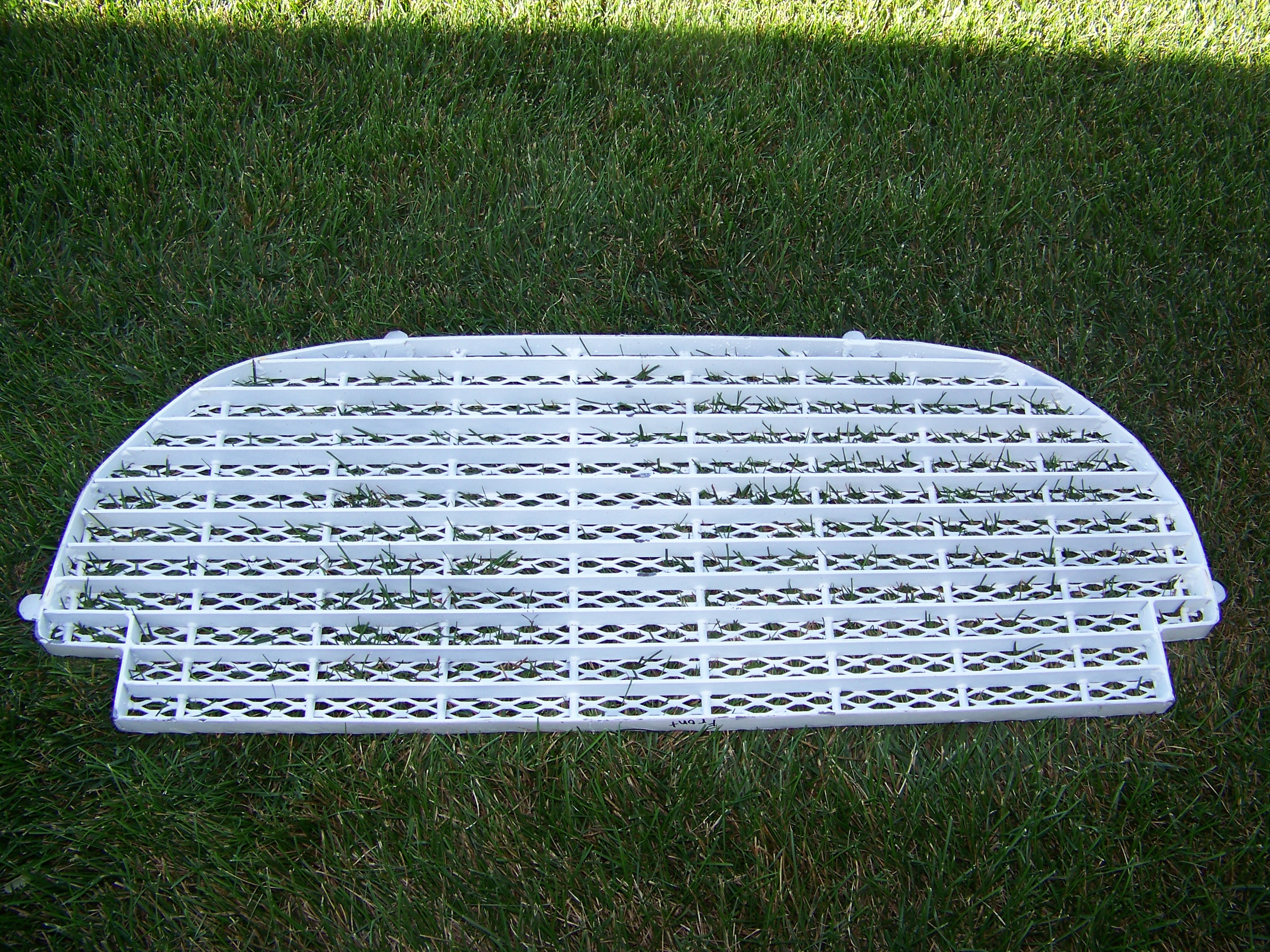 The underside of the grate.