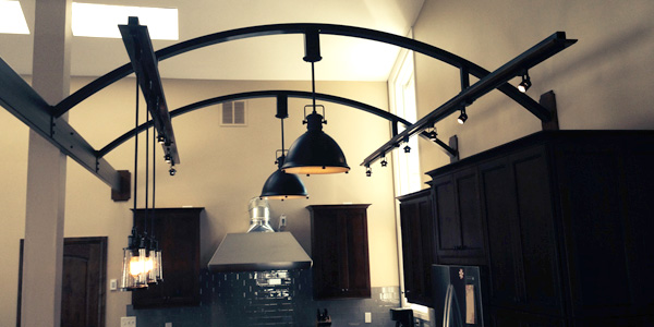 Custom Light Fixture Support